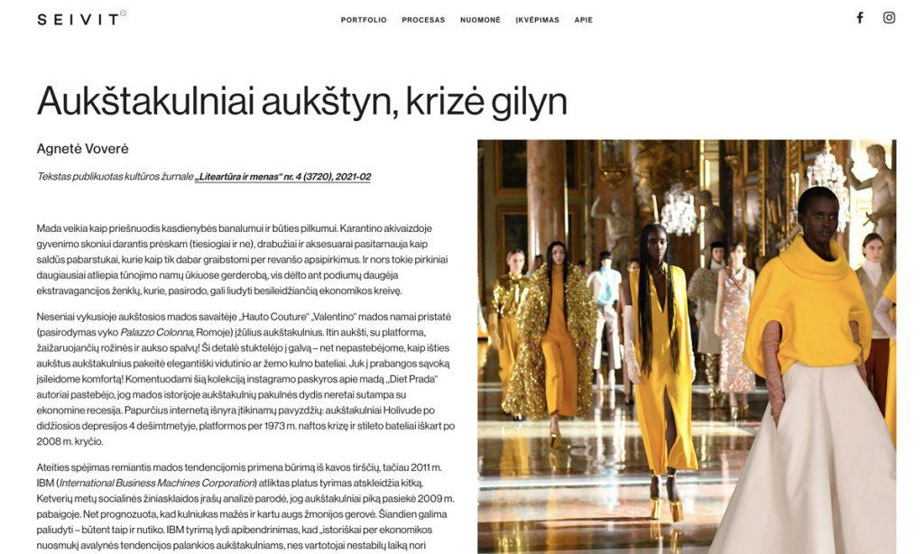 Seivit_WEB Nuomone